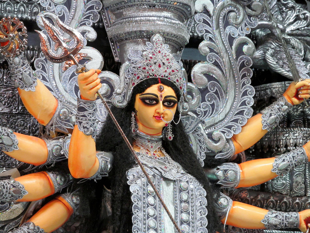 Maa Durga Face Hd Wallpaper 1080p