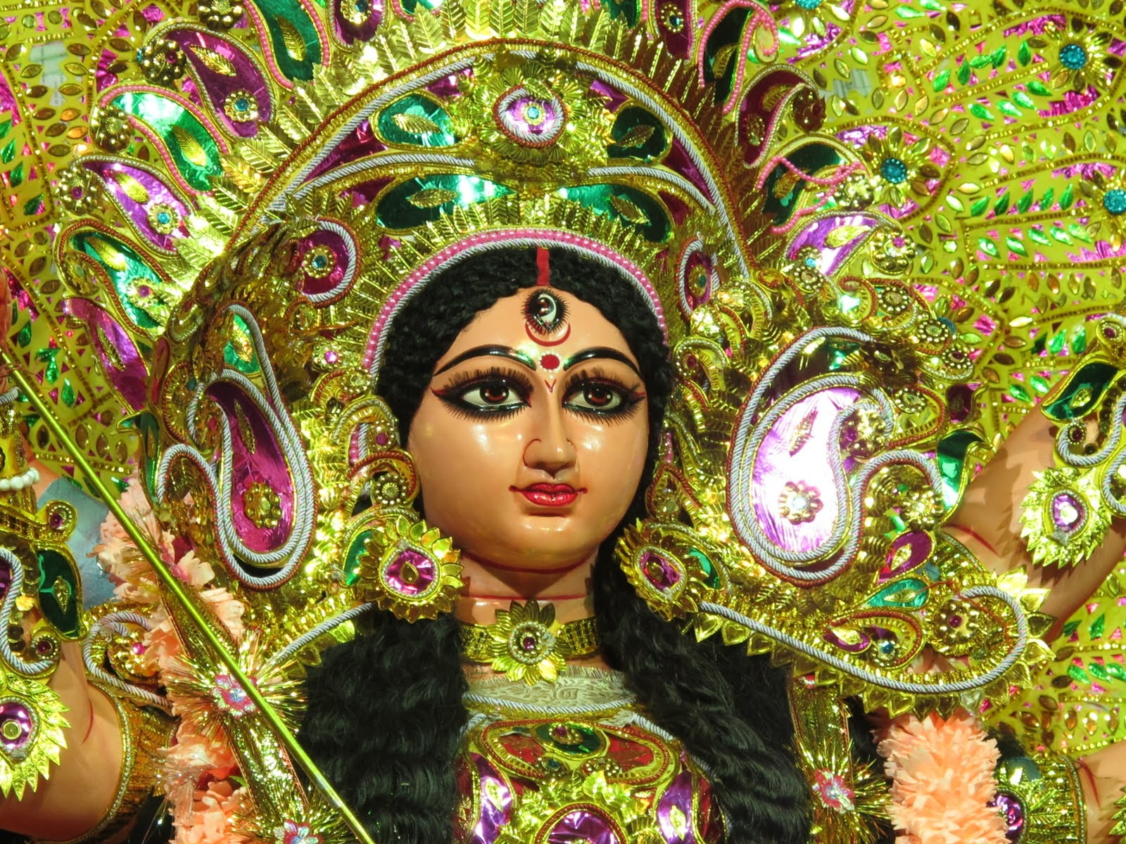Maa Durga Animated Wallpaper For Desktop Unique Durga Face